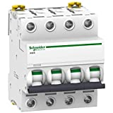 Schneider Electric A9F75425 Interruptor Automático Magnetotérmico Ic60N, 4P, 25A, Curva D