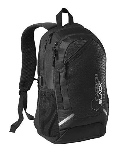 CarbonBlack Zaino da Viaggio Leggero Impermeabile, con Porta Laptop Zaino in Plastica Riciclata – Zaino da Cabina Bagaglio a Mano
