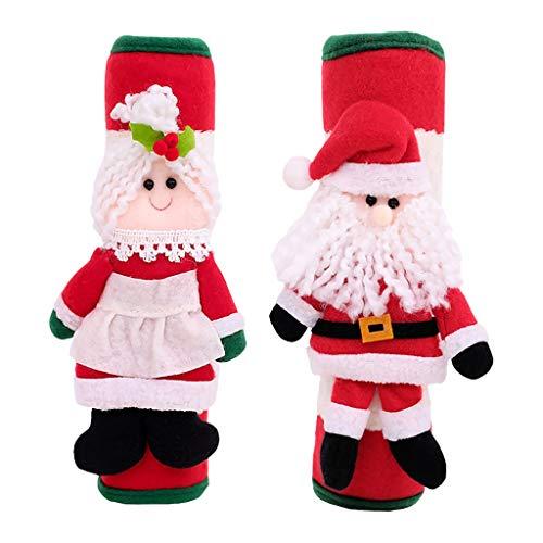Weihnachtliche Kühlschrankgriffabdeckung mit Weihnachtsmann-Motiv, für Küche, Mikrowelle, Kühlschrank, Türgriffabdeckung für Para El Hoga