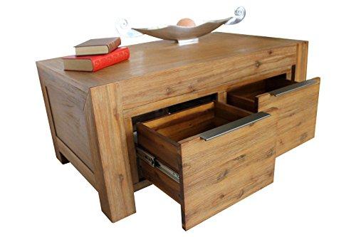 SEDEX Florenz Couchtisch 100 x 60 cm Wohnzimmertisch Tisch Massivholz Akazie Massivholztisch
