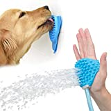 Aquapaw Dog Bathing Tool and Slow Treater Combo - Lick Mat Suctions to The Wall or Floor for Anxiety-Free Pet Grooming - Sprayer and Scrubber Works with Indoor Shower or Outdoor Garden Hose