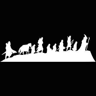 Fellowship LLI216 - Vinilo adhesivo para portátiles de 19,05 x 6,35 cm, diseño de El Señor de los Anillos, color blanco