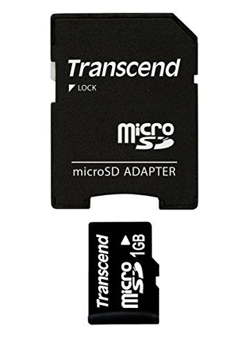 Transcend Micro SD 1GB geheugenkaart met SD-adapter