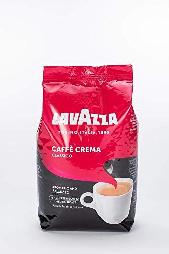 Lavazza Kaffee Caffè Crema Classico, ganze Bohnen, Bohnenkaffee (4 x 1kg Packung)