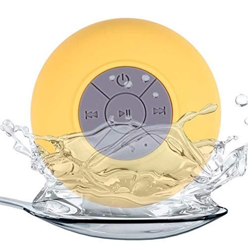 LHFLU-SP Mini Altavoz Bluetooth Manos Libres Inalámbrico Portátil Inalámbrico Inalámbrico, para Duchas, Baño, Piscina, Coche, Playa y Superar,Amarillo