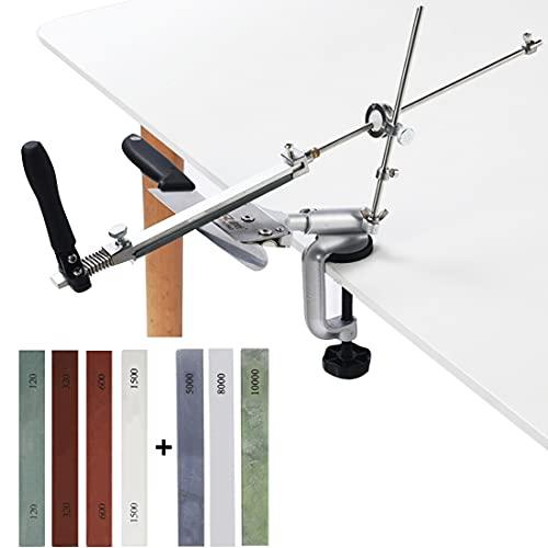 MOVIRON Professional Knife Sharpener Knife Sharpening Kit System, 360° Flip Fixed Angle Stainless...