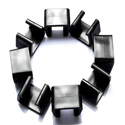 Surakey - Clip per mobili in vimini, 10 pezzi, in plastica rattan per divani, clip per mobili in rattan, clip sezionali per allineamento divano e divano, plastica, bianco, 4.25cm