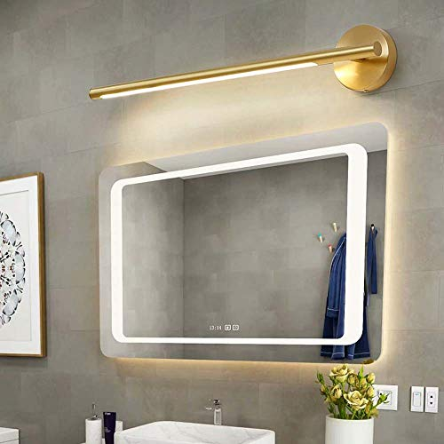 Decoratie alle koperen geleide Amerikaanse toilet badkamerspiegel schijnwerper lamp eenvoudige kast badkamerrek lamp make-up spiegel Nordic hoogte 12 cm diameter 64 cm *