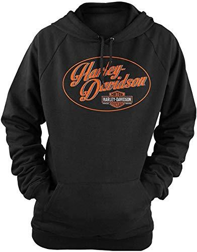 Harley-Davidson Military - Women's Black Graphic Pullover Hooded Sweatshirt - Overseas Tour | Wow LG