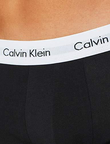 Calvin Klein Underwear Men's Hip Trunks Pack of 3 - Cotton Stretch, Schwarz (Black 001), Small (3er Pack)