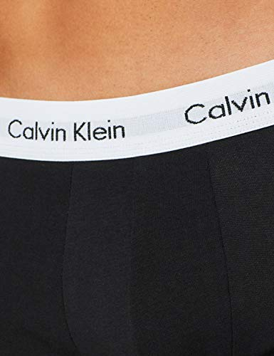Calvin Klein Underwear Men's Hip Trunks Pack of 3 - Cotton Stretch, Schwarz (Black 001), Small (3er Pack)