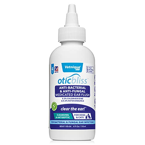 VETNIQUE LABS Oticbliss Anti-Bacterial & Anti-Fungal Medicated Ear...