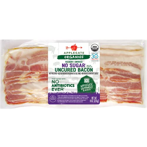 Applegate, Organic No Sugar Uncured Bacon, 8oz