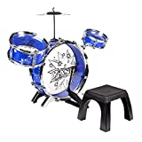 Kid's Band Drum Set (Blue and White)