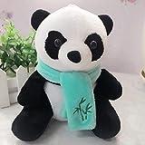 E-House Panda Suministros Regalos Bufanda de dibujos animados con almohada de felpa de oso panda de peluche, juguete de regalo de cumpleaños para niños, color al azar