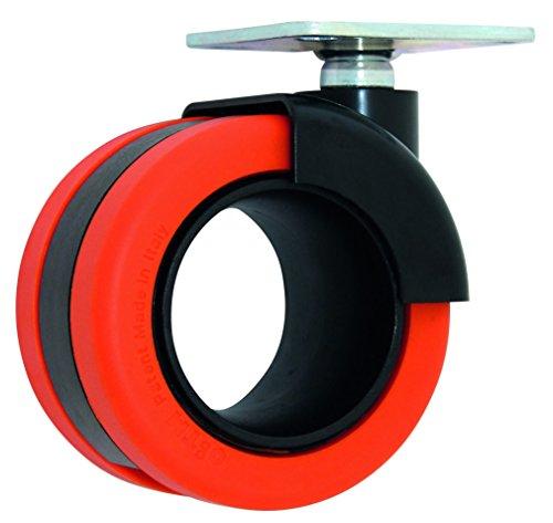 HSI 261410.0 Design-Möbelrollen mit Platte Nylon