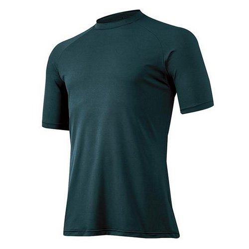 ミズノ 野球 アンダーシャツ 夏用 吸汗速乾 メンズ ゼロプラス 丸首 半袖 12JA5P30 D.グリーン(34) L