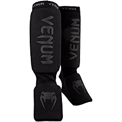Venum Contact Shin Guard, Black, One Size