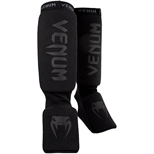 Venum Kontact Protège-Tibia Mixte Adulte, Noir, Taille Uniqu
