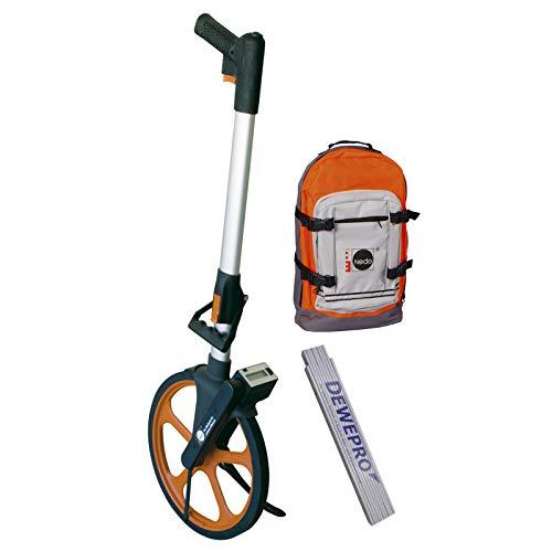 NEDO® Leichtmessrad-Set DIGITAL mit Trekking-Rucksack inkl. DEWEPRO Zollstock 2m