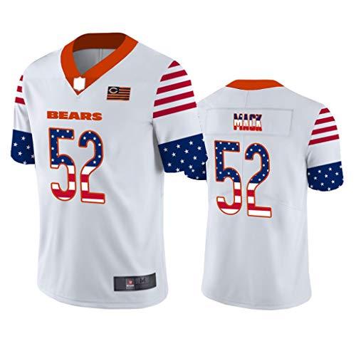 FADA Jersey de Hombre, Jersey de fútbol Americano Khalil Mack Chicago Bears # 52, Sudadera-XXL