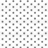 babrause® Baumwollstoff Punkte Weiß Grau Webware