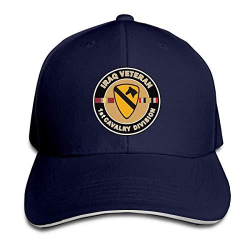 zsxaaasdf US Army Irak Veteran 1. Kavallerie verstellbare Sandwichkappe Baseballkappe Casquette Hut