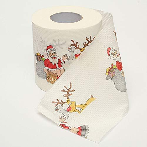2019 Reno de Papá Noel de impresión de papel higiénico de Navidad decoraciones de Navidad para año Tabla...