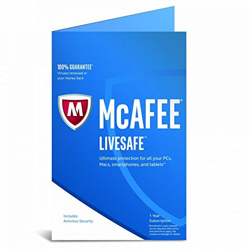 McAfee LiveSafe 2017 - Unlimited Devices - 1 Year Subscription