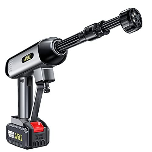 NYDCTHOM Limpiador de Alta presión inalámbrico para riego, Limpieza,Herramienta portátil de Limpieza a presión para Coches eléctricos,Inicio/Limpiador de Coches,Pistola de Agua portátil