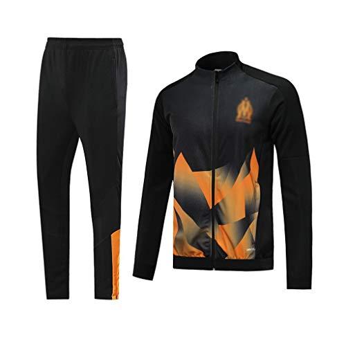 YWYU 60. Jahrestag!France Football Club Fußball-Trainingsanzug Herren Schwarz Breath Langarm-Kapuzenshirt Top + Pants Fan Special Edition-SPM-B1302 (Color : Black, Size : L)