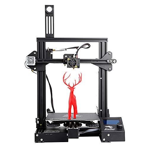 Imprimante 3D Officielle Ender 3 Pro de Creality avec bloc d'alimentation Certifié UL et Autocollant de plaque de mise à niveau magnétique, 220 * 220 * 250mm pour format d'impression