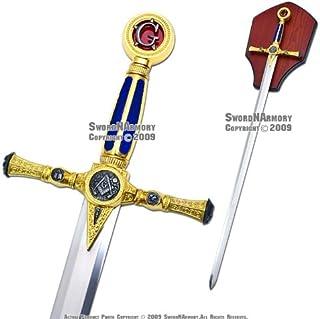 """Etrading 39"""" Fraternal Masonic Sword Templar Knight Freemasonry"""