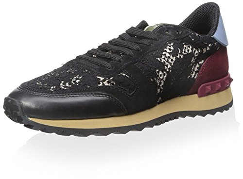 Valentino Damen Schnürschuh Sneaker, (Schwarz Multi), 42 EU