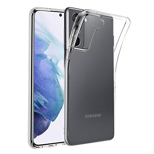 Eiselen klar Hulle Kompatibel mit Samsung Galaxy S21 5G Weich Dunn Transparent Anti Gelb Handyhulle TPU Case Schutzhulle Kompatibel mit Samsung Galaxy S21 5G