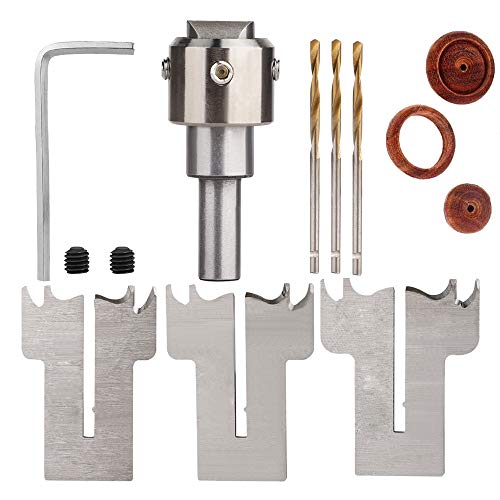 Wooden Ring Drill Bit, Wooden Thick Ring Maker, Milling Cutter Set Woodworking Tool Kit for Making Personalized Wooden Rings and Jewelry (Female)
