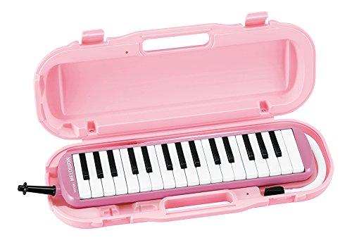 SUZUKI スズキ 鍵盤ハーモニカ メロディオン アルト 32鍵 パステルピンク MXA-32P 軽量本体 ハードケース