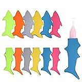 12 Pack Shark Ice Pop Sleeves Popsicle Holders Bags, Neoprene Fabric