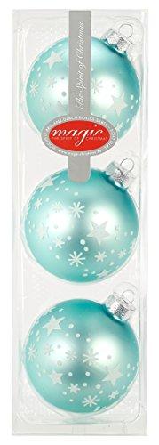 I. Christmas Decor Lot de 3 Boules de Noël « Cool Mint » de 8 cm de diamètre