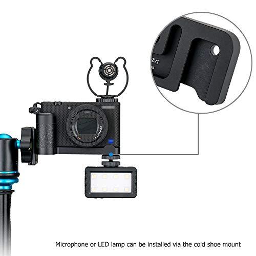 JJC Handgriff Kameragriff Metall L-Platte für Sony ZV-1 ZV1 Vlog-Kamera