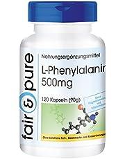 L-fenylalanine 500mg - essentieel aminozuur - zonder magnesiumstearaat - vegan - 120 capsules