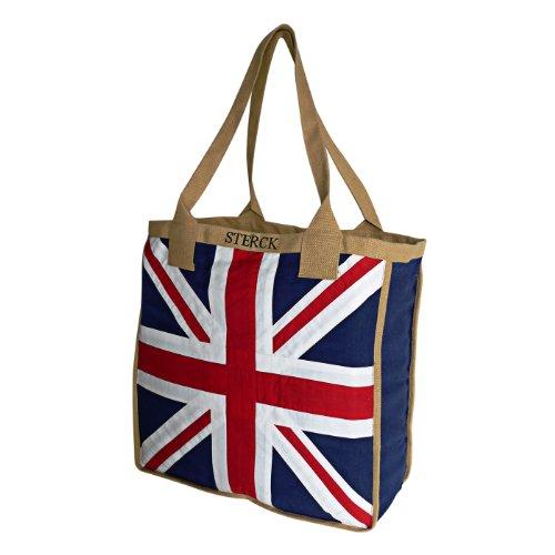 Sterck Fair Trade Baumwolle Tasche - Applizierte Union Jack