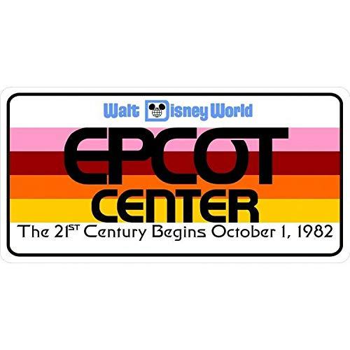 epcot center walt disney world logo license plate license plate 6x12 inches