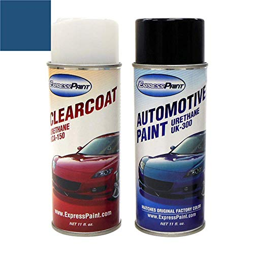 ColorRite Aerosol Automotive Touch-up Paint for Nissan Maxima - Majestic Blue Pearl Clearcoat BW9 - Color+Clearcoat Package