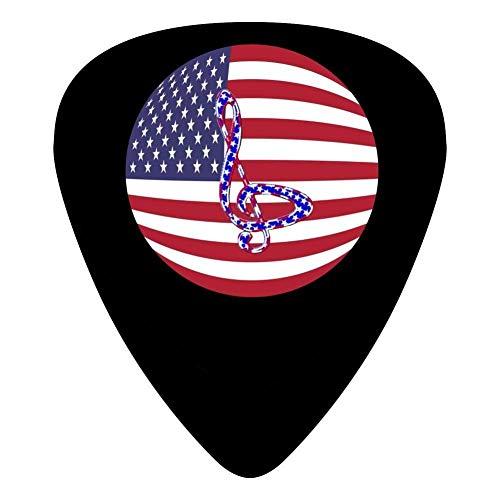 Selecciones de guitarra de celuloide para guitarra de mandolina, bandera circular impresa