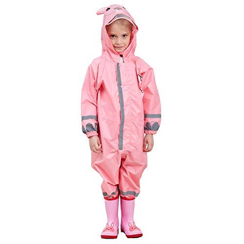 Imperméable Fille Enfant Velo Complet Pink Lapin avec Capuche Combinaison L'école Sport Manteaux Imperméable Pantalon Respirant Randonnée Veste Transparent Chapeau Unisexe Cape Pluie Poncho 7-10 Ans