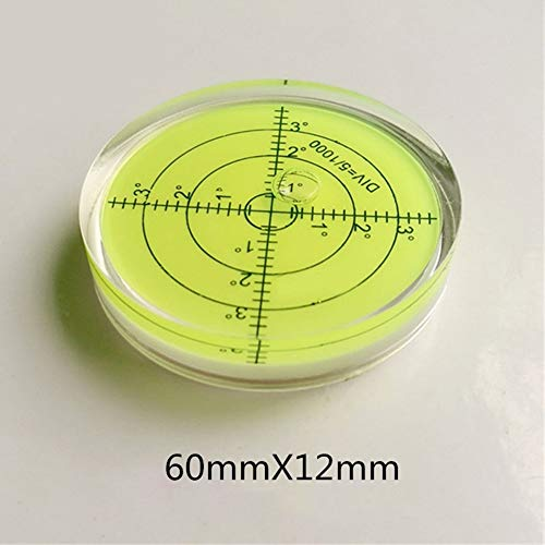 XMLEI Convenient and lighterCircular Bubble Level Spirit l Measuring Instruments Tool Universal Protractor Tool (60X12mm)