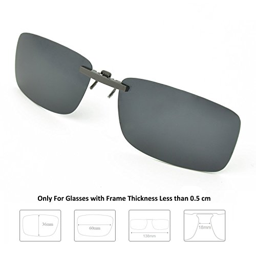 Buy Enem Day Vision Polarized Black Clip-on Metal Clip Driving Sunglasses