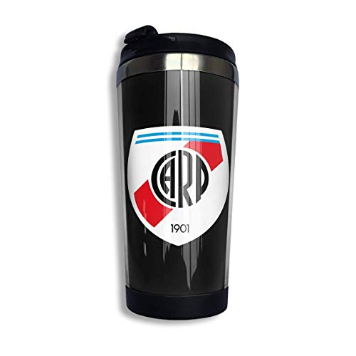 River Plate FC Coffee Cups Stainless Steel Water Bottle Cup Travel Mug Coffee Tumbler with Spill Proof Lid