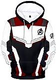 SilverBasic Garçon Sweat à Capuche Avengers Endgame Quantum Realm Pull Manteau Unisexe Blouson Homme Adolescents Superhero 3D Imprimé XS,Rouge Foncé-1